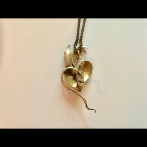 """Unbranded Jewelry - Custom Necklace, Heart with Wings Pendant, 20"""""""